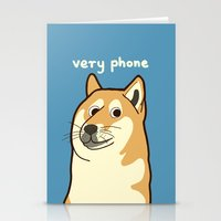 doge Stationery Cards featuring Doge by evannave