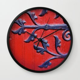 Abbey Red Wall Clock