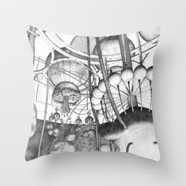 Mirny Buttery - Cow's View Throw Pillow