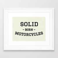 solid Framed Art Prints featuring Solid by Born Motor Co.