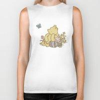 pooh Biker Tanks featuring Classic Pooh by kltj11