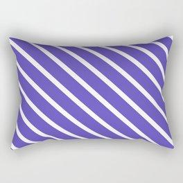Lavender Blue Diagonal Stripes Rectangular Pillow