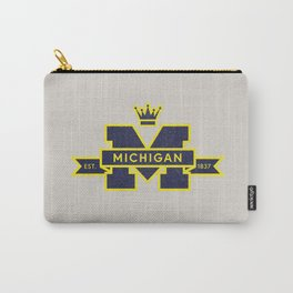 Michigan Block M Retro & Vintage Carry-All Pouch