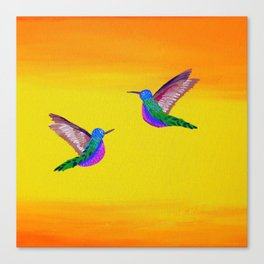 Hummingbird Sunset Canvas Print