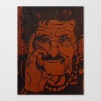 kurt vonnegut Canvas Prints featuring Kurt Vonnegut, Jr. by Emily Storvold