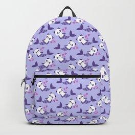 Cute purple merpandas Backpack