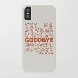 Plastic Bag Ouija Board iPhone Case