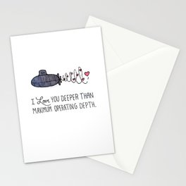 I Love You Deeper Than Maximum Operating Depth Stationery Cards