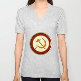 Russian Pin Badge Unisex V-Neck