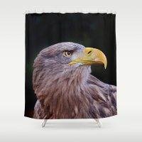 predator Shower Curtains featuring Predator by DistinctyDesign