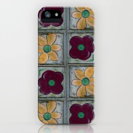 Big Red Poppy and Big Yellow Daisy Quad Flip iPhone Case