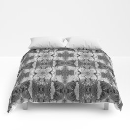B&W Open Your Eyes Patterned Image Comforters