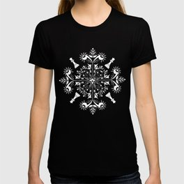 White Chess Inspired Queenly Motif T-shirt