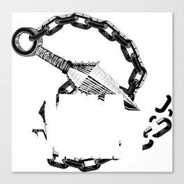 Kunai On A Chain Canvas Print