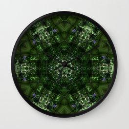 Watery Orbitals Mandala 2 Wall Clock