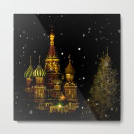 Moscow Night Metal Print