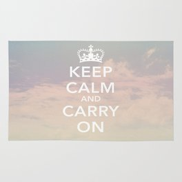 Keep Calm & Carry On Rug