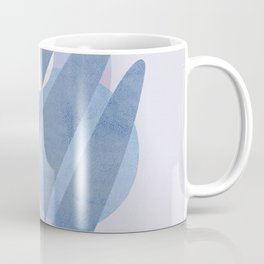 Minimal pebbles balance 1 blue and pink Coffee Mug