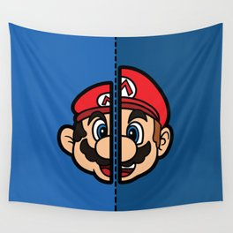 Old & New Mario Wall Tapestry