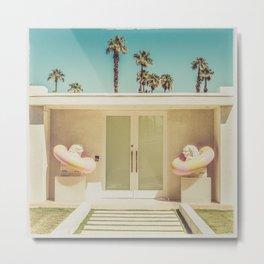 PoolSide Palm Springs Photography Metal Print