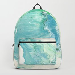 Breathe Blue Abstract Print Backpack