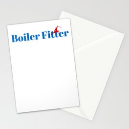 Boiler Fitter Ninja in Action Stationery Cards
