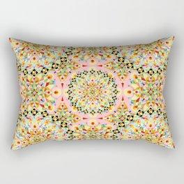 Pink Carousel Mandalas Rectangular Pillow