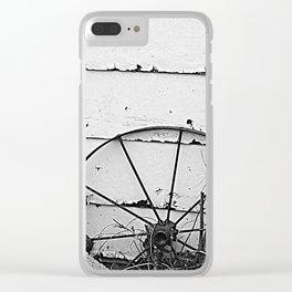 Lone Wagon Wheel Clear iPhone Case