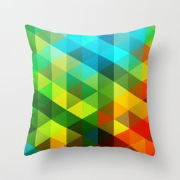 Multi Geo Throw Pillow