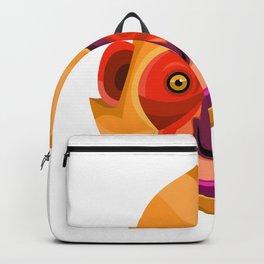 Golden-headed Langur Flat Icon Backpack