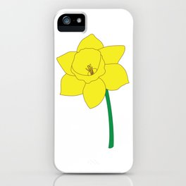 Daffodil Illustration iPhone Case