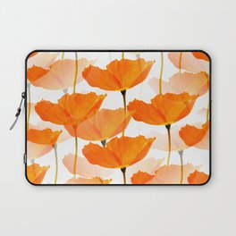 Orange Poppies On A White Background #decor #society6 #buyart Laptop Sleeve