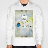westie Hoodies featuring West Highland White Terrier ~ Westie ~ Sophisticated Wally ~ Ginkelmier by Ginkelmier