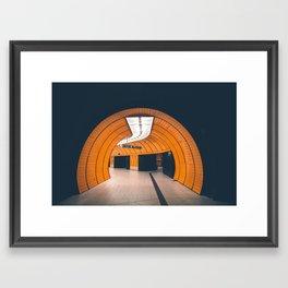 Orange Clockwork Framed Art Print