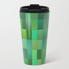Green Mosaic Tile Pattern Travel Mug