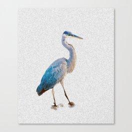 Blue Heron Silhouette Canvas Print