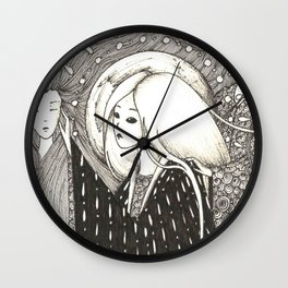 Figures from the past Wall Clock