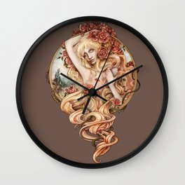 Aurora sleeping beauty Wall Clock