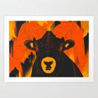 ram Art Prints featuring Ram by  Matt Glasby