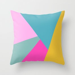 Geometric Color Block #11 Brights Throw Pillow
