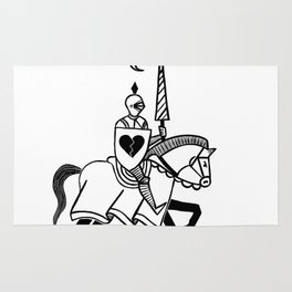 Knight of broken hearts Rug