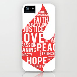 Fire flame and virtues iPhone Case