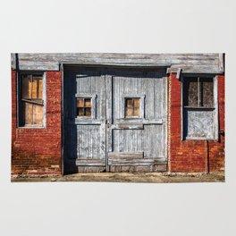 In the Door Series, wooden weather beaten textured doors Rug
