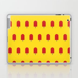 Red Popsicles - Yellow Background Laptop & iPad Skin