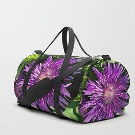 Purple Aster Duffle Bag