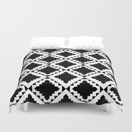 Modern Black Duvet Cover