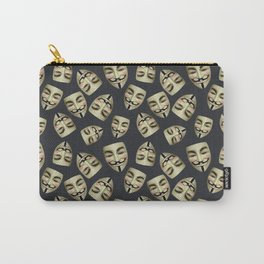 Guy Fawkes Masks on Gunpowder Carry-All Pouch