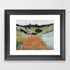 Poppy Field in a Hollow near Giverny by Claude Monet Framed Art Print