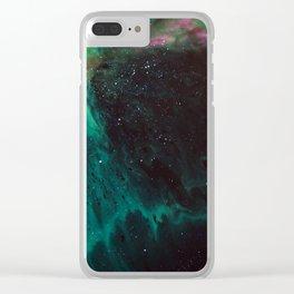 Nebula green Clear iPhone Case