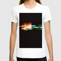santa monica T-shirts featuring Night Lights Santa Monica Holiday Inn by David Hohmann